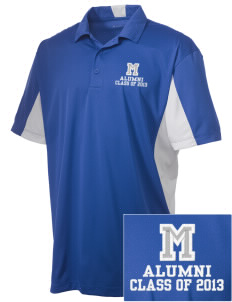 McCants Middle School Hornets Embroidered Men's Side Blocked Micro Pique Polo