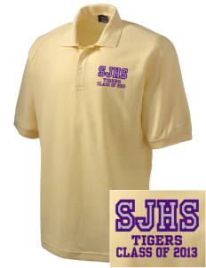 Sims Junior High School Tigers Embroidered Nike Men's Pique Knit Golf Polo