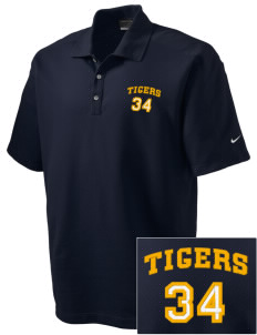 Sims Junior High School Tigers Embroidered Nike Men's Dri-FIT Pique II Golf Polo