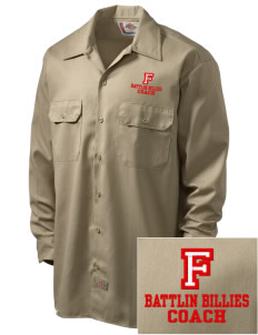 Fredericksburg Middle School Battlin Billies Embroidered Dickies Men's Long-Sleeve Workshirt