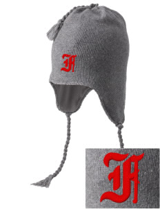 Fredericksburg Middle School Battlin Billies Embroidered Knit Hat with Earflaps