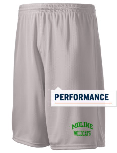 "Moline Elementary School Wildcats Holloway Men's Speed Shorts, 9"" Inseam"