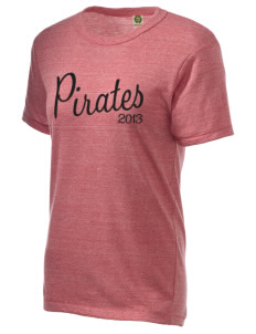 Hartman Middle School Pirates Embroidered Alternative Unisex Eco Heather T-Shirt