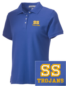 South Shore Union Environment Magnet Trojans Embroidered Women's Performance Plus Pique Polo