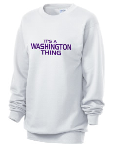 Washington Middle School Huskies Unisex 7.8 oz Lightweight Crewneck Sweatshirt