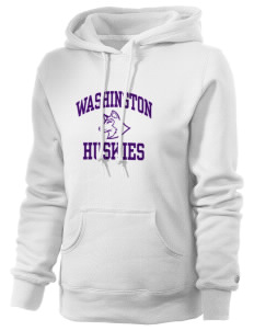 Washington Middle School Huskies Russell Women's Pro Cotton Fleece Hooded Sweatshirt