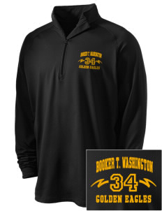 Washington High School Golden Eagles Embroidered Men's Stretched Half Zip Pullover