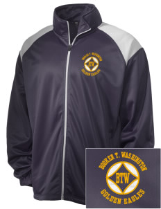 Washington High School Golden Eagles Embroidered Men's Tricot Track Jacket