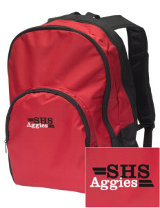 Sylacauga High School Aggies Embroidered Value Backpack