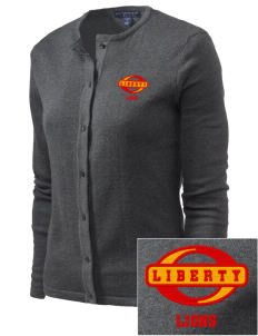 Liberty High School Lions Embroidered Women's Cardigan Sweater