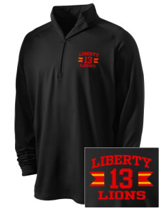Liberty High School Lions Embroidered Men's Stretched Half Zip Pullover