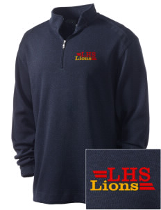 Liberty High School Lions Embroidered Nike Men's Golf Heather Cover Up
