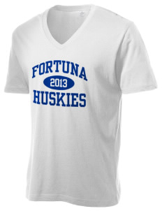 Fortuna Union High School Huskies Alternative Men's 3.7 oz Basic V-Neck T-Shirt