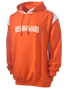 Desert High School Scorpions Men's Pullover Hooded Sweatshirt with Contrast Color