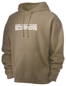 Desert High School Scorpions Men's 80/20 Pigment Dyed Hooded Sweatshirt