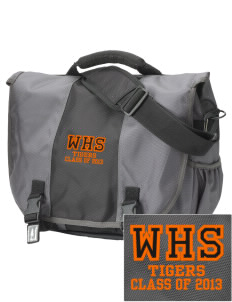 Wasco High School Tigers  Embroidered Montezuma Messenger Bag
