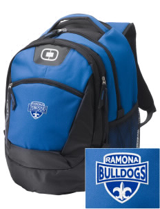 Ramona High School Bulldogs Embroidered OGIO Rogue Backpack