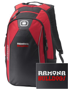 Ramona High School Bulldogs Embroidered OGIO Marshall Backpack