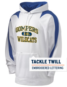 Gompers Secondary School Wildcats Holloway Men's Sports Fleece Hooded Sweatshirt with Tackle Twill