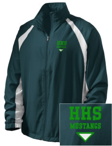 Homestead High School Mustangs  Embroidered Men's Full Zip Warm Up Jacket