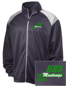 Homestead High School Mustangs Embroidered Men's Tricot Track Jacket