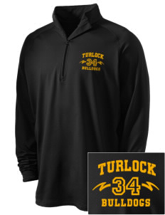 Turlock High School Bulldogs Embroidered Men's Stretched Half Zip Pullover