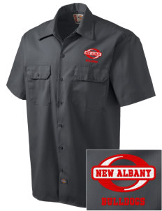 New Albany High School Bulldogs Embroidered Dickies Men's Short-Sleeve Workshirt
