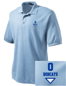 Ophir Elementary School Bobcats Embroidered Tall Men's Silk Touch Polo