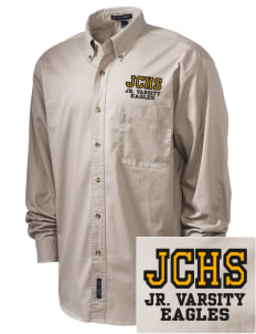 Johnson Central High School Eagles Embroidered Tall Men's Twill Shirt