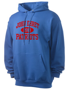 John Ehret High School Patriots Men's 7.8 oz Lightweight Hooded Sweatshirt