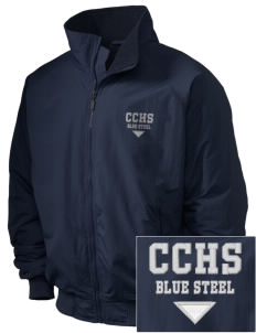 Christopher Columbus High School Blue Steel Embroidered Holloway Men's Tall Jacket