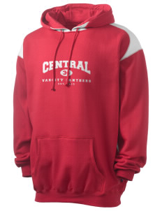 Central High School Panthers Men's Pullover Hooded Sweatshirt with Contrast Color