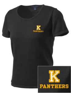 Keystone High School Panthers Embroidered Women's Fine-Gauge Scoop Neck Sweater