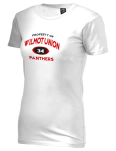 Wilmot Union High School Panthers Alternative Women's Basic Crew T-Shirt