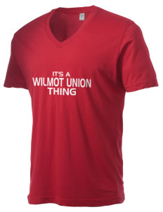 Wilmot Union High School Panthers Alternative Men's 3.7 oz Basic V-Neck T-Shirt