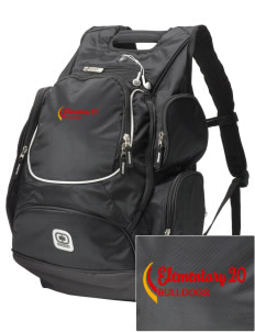Elementary School 20 Bulldogs  Embroidered OGIO Bounty Hunter Backpack