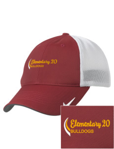 Elementary School 20 Bulldogs Embroidered Nike Golf Mesh Back Cap