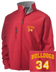 Elementary School 20 Bulldogs Embroidered Men's Soft Shell Jacket