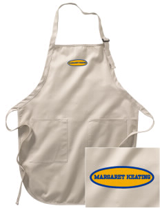 Margaret Keating School Golden Bears Embroidered Full-Length Apron with Pockets