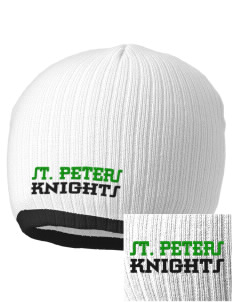 Saint Peters School Knights Embroidered Champion Striped Knit Beanie