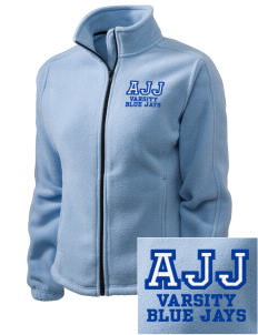 A J Jolly Elementary School Blue Jays Embroidered Women's Fleece Full-Zip Jacket