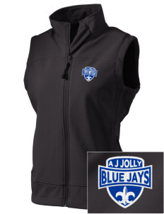 A J Jolly Elementary School Blue Jays  Embroidered Women's Glacier Soft Shell Vest