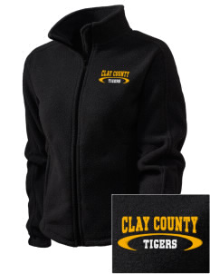 Clay County High School Tigers Embroidered Women's Fleece Full-Zip Jacket