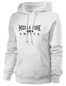 Middle Fork Elementary School Chiefs Russell Women's Pro Cotton Fleece Hooded Sweatshirt