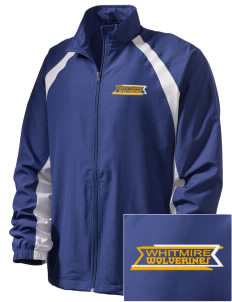 Whitmire High School Wolverines  Embroidered Men's Full Zip Warm Up Jacket