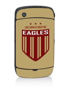 Portsmouth Christian Academy Eagles Black Berry 8530 Curve Skin
