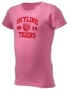 Skyline School Tigers  Girl's Fine Jersey Longer Length T-Shirt