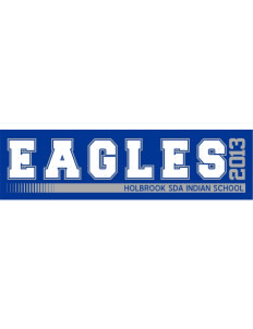 "Holbrook SDA Indian School Eagles Bumper Sticker 11"" x 3"""