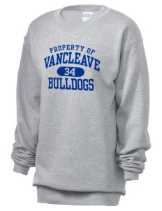 Vancleave High School Bulldogs Unisex 7.8 oz Lightweight Crewneck Sweatshirt