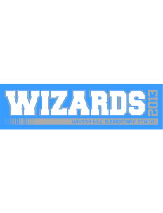 "Winsor Hill Elementary School Wizards Bumper Sticker 11"" x 3"""